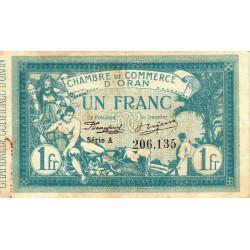 Algérie - Oran 141-02 - 1 franc - Série A - 1915 - ETAT : TTB-