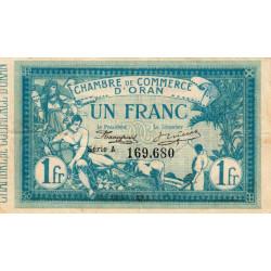 Algérie - Oran 141-02 - 1 franc - Série A - 1915 - ETAT : TTB+