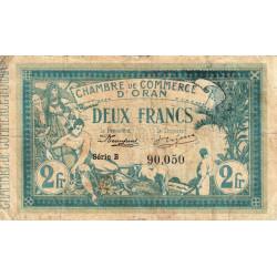 Algérie - Oran 141-03 - 2 francs - Série B - 1915 - ETAT : TB