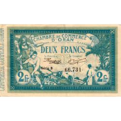 Algérie - Oran 141-03 - 2 francs - Série B - 1915 - ETAT : TTB+