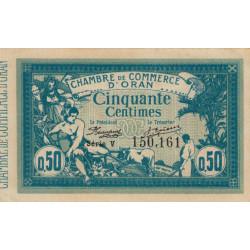 Algérie - Oran 141-04 - 50 centimes - Série V - 1915 - ETAT : SUP+