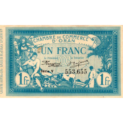 Algérie - Oran 141-08 - 1 franc - Série V - 1915 - ETAT : SUP+