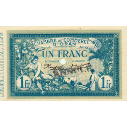 Algérie - Oran 141-10 - 1 franc ANNULE - 1915 - ETAT : SPL