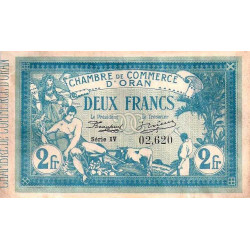 Algérie - Oran 141-14 - 2 francs - Série IV - 1915 - ETAT : TTB+