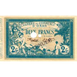 Algérie - Oran 141-16 - 2 francs ANNULE - 1915 - ETAT : SPL