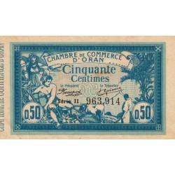 Algérie - Oran 141-19 - 50 centimes - Série II - 1915 - ETAT : TTB+