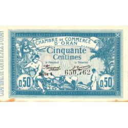 Algérie - Oran 141-19 - 50 centimes - Série I - 1915 - ETAT : TTB+