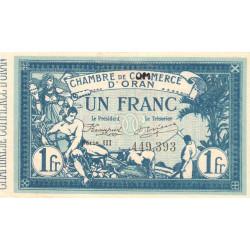 Algérie - Oran 141-20 - 1 franc - Série III - 1915 - ETAT : SUP