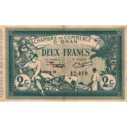 Algérie - Oran 141-21 - 2 francs - Série II - 1915 - ETAT : TTB