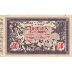Algérie - Oran 141-22 - 50 centimes - Série IV - 1920 - ETAT : TTB+