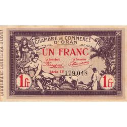 Algérie - Oran 141-23 - 1 franc - Série IV - 1920 - ETAT : TTB+