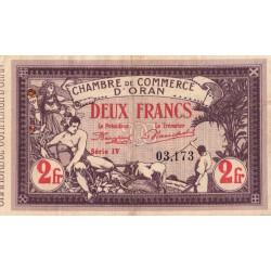 Algérie - Oran 141-24 - 2 francs - Série IV - 1920 - ETAT : TTB+