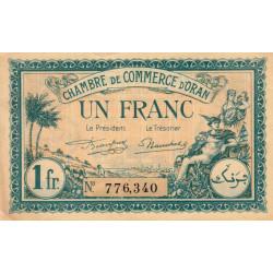 Algérie - Oran 141-27 - 1 franc - 1921 - ETAT : SPL