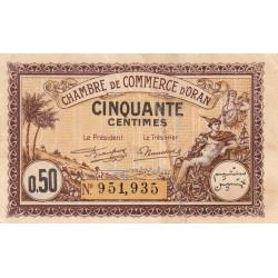 Algérie - Oran 141-31 - 50 centimes - 1922 - ETAT : TTB-