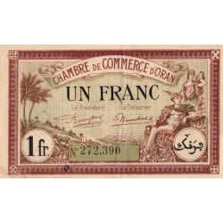 Algérie - Oran 141-33 - 1 franc - 1922 - ETAT : SUP