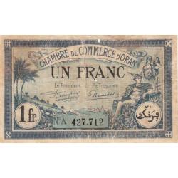 Algérie - Oran 141-39 - 1 franc - Série A - 1923 - ETAT : TB