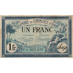 Algérie - Oran 141-39 - 1 franc - Série A - 1923 - ETAT : TB+