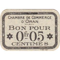Algérie - Oran 141-46 - 0,05 franc - 1916 - ETAT : NEUF