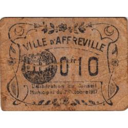 Algérie - Affreville 2 - 0,10 franc - 07/10/1917 - Etat : B+