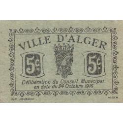 Algérie - Alger 1 - 5 centimes - 24/10/1916 - Etat : SPL