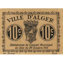 Algérie - Alger 3 - 10 centimes - 24/10/1916 - Etat : SUP