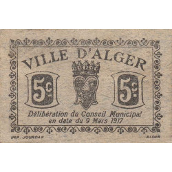 Algérie - Alger 5b - 5 centimes - 09/03/1917 - Etat : TTB+
