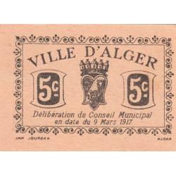 Algérie - Alger 5c - 5 centimes - 09/03/1917 - Etat : NEUF