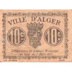 Algérie - Alger 7 - 10 centimes - 09/03/1917 - Etat : TTB