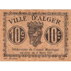 Algérie - Alger 7 - 10 centimes - 09/03/1917 - Etat : SPL