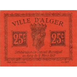 Algérie - Alger 11 - 25 centimes - 09/03/1917 - Etat : SPL