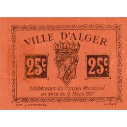 Algérie - Alger 11 - 25 centimes - 09/03/1917 - Etat : SUP
