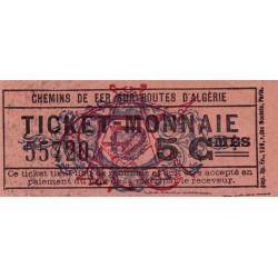 Algérie - Alger 14 - Chemin de fer - 5 centimes -1915/1920 - Etat : pr.NEUF