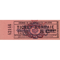 Algérie - Alger 14 - Chemin de fer - 5 centimes - 1915/1920 - Etat : pr.NEUF
