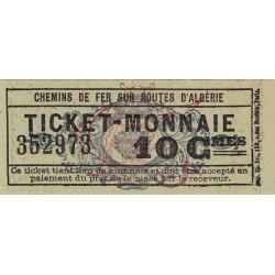 Algérie - Alger 15 - Chemin de fer - 10 centimes - 1915/1920 - Etat : pr.NEUF
