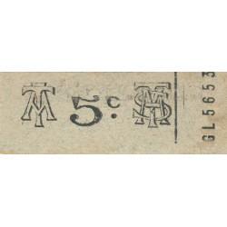 Algérie - Alger 18 - Tramways - 5 centimes - 1915/1920 - Etat : SPL