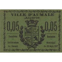 Algérie - Aumale 3 - 0,05 franc - 22/09/1917 - Etat : pr.NEUF