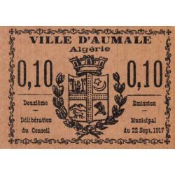 Algérie - Aumale 5 - 0,10 franc - 22/09/1917 - Etat : NEUF