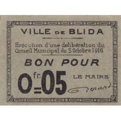 Algérie - Blida 3 - 0,05 franc - 05/10/1916 - Etat : NEUF