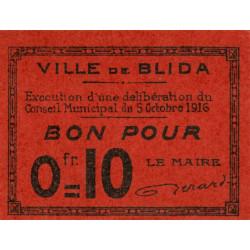 Algérie - Blida 5 - 0,10 franc - 05/10/1916 - Etat : NEUF