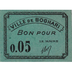 Algérie - Boghari 1 - 0,05 franc - 1916 - Etat : NEUF