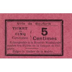 Algérie - Boufarik 4 - 5 centimes - 1916 - Etat : NEUF