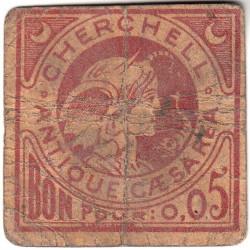 Algérie - Cherchell 1 - 0,05 franc - 1916 - Etat : B