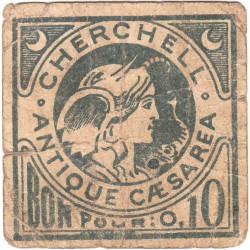 Algérie - Cherchell 3 - 0,10 franc - 1916 - Etat : TB