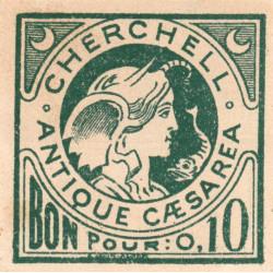 Algérie - Cherchell 3 - 0,10 franc - 1916 - Etat : SUP