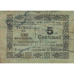 Algérie - Douéra 1 - 5 centimes - 19/11/1916 - Etat : TB+