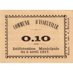 Algérie - Isserville 2 - 0,10 franc - 05/04/1917 - Etat : NEUF