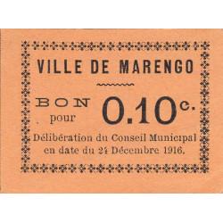 Algérie - Marengo 4a - 0,10 franc - 24/12/1916 - Etat : SUP