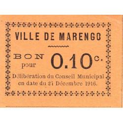 Algérie - Marengo 4a - 0,10 franc - 24/12/1916 - Etat : SPL