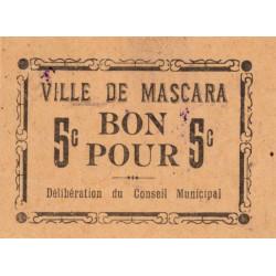 Algérie - Mascara 3 - 5 centimes - 1916 - Etat : SPL