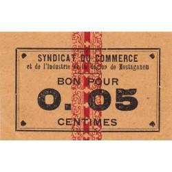 Algérie - Mostaganem 4 - 0,05 franc - 1916 - Etat : SPL